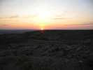 Sunset in steppe